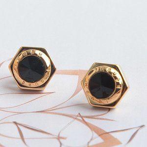 Henri Bendel Hexagonal Simple Logo Stud Earrings